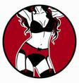 set womens underwear on model vector image vector image