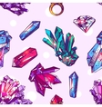 sketch of crystals vector image