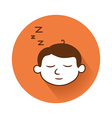 sleeping head symbol vector image