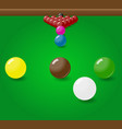 snooker billiard balls start position on the table vector image vector image