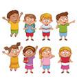 students kids cartoon vector image vector image