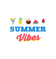 summer vibes sale and promotion template of vector image