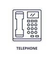 telephone line icon concept telephone vector image vector image