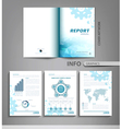 templates for business reports advertising vector image vector image