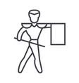 toreadormatador line icon sign vector image vector image
