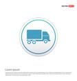 truck icon - white circle button vector image