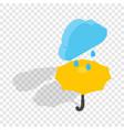 umbrella and rain isometric icon vector image vector image