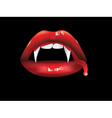 Vampire lips with blood2 vector image vector image