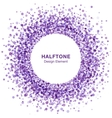 Violet Abstract Halftone Design Element vector image