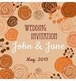 Wedding invitation template with floral border vector image vector image