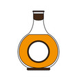 whisky glass bottle vector image vector image