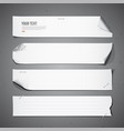 White paper Long collections vector image