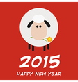 2015 New Year Background with a Sheep Design vector image vector image
