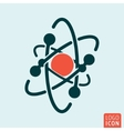 Atom icon isolated