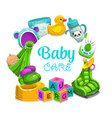 baby care children toys frame vector image vector image