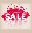 background valentines day sale offer red hearts vector image vector image