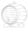 Beer barrel silhouette vector image vector image
