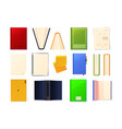 books top view puzzle 3d cover of cardboard vector image