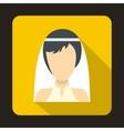 Bride icon in flat style vector image vector image