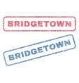 bridgetown textile stamps vector image vector image