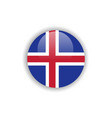 button iceland flag template design vector image vector image