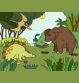 cartoon children coloring vector image