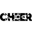 cheer on white background vector image vector image