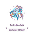 contract analysis concept icon vector image