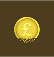 cracked pound coin vector image vector image