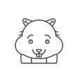 cute hamster line icon concept cute hamster vector image
