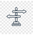 directional linear icon isolated on transparent vector image vector image
