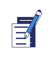 document pages and pen icon vector image vector image