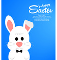 Easter background with cute white bunny vector image