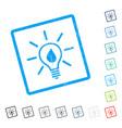 eco light bulb icon rubber watermark vector image