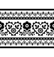 folk art seamless embroidery long pattern