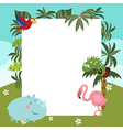 Frame with African animals vector image