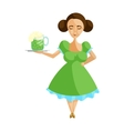 Girl in german traditional dress icon vector image