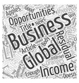 Global Business Opportunities Word Cloud Concept vector image vector image