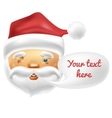 Happy face of Santa with a blank comic balloon vector image vector image