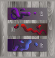 horizontal banner set with abstract dynamic vector image vector image