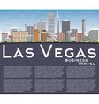 Las Vegas Skyline with Gray Buildings Blue Sky vector image vector image