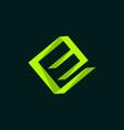 letter e box creative modern business logo vector image vector image