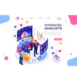 management interactive analysis vector image