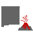 map new mexico with volcano vector image vector image