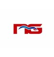 NG letter logo vector image vector image