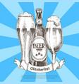 oktoberfest beer festival invitation color card vector image