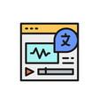 online language translation site flat color line vector image