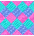 patchwork pattern Fashion fabric print vector image vector image