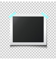 photo frame isolated on transparent background vector image