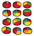 Pie Graphs vector image vector image
